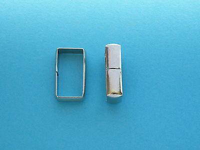 """20mm 3/4"""" Rectangle Keeper Loop Ring Nickel Nickle Plated Belt Keepers Loops Bag"""