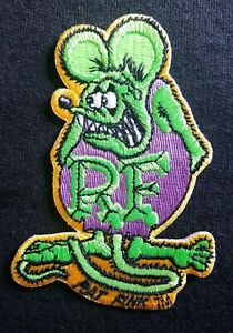 OFFICIALLY-LICENSED-ED-034-BIG-DADDY-034-ROTH-RAT-FINK-HOT-ROD-PATCH-GREEN-amp-PURPLE
