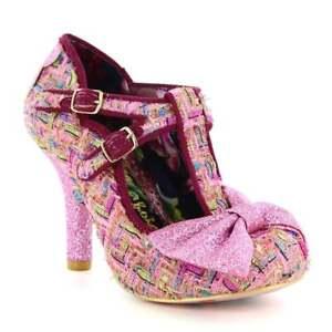 Irregular-Choice-Helado-chispitas-Rosa-Zapatos-de-corte-de-las-Mujeres-Tacones
