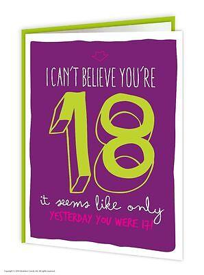 Brainbox Candy 18th Birthday Greeting Age Card funny novelty cheeky joke humour