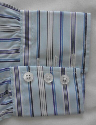 New Turnbull White Multi Stripe Shirt Work amp; Men's 5'' Blues 15 Asser casual 7Fax6q