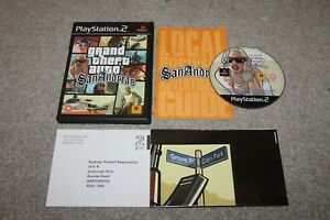 Playstation-2-PS2-Grand-Theft-Auto-San-Andreas-Complete-Map-VGC