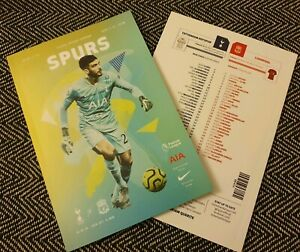 Spurs-v-Liverpool-F-C-Matchday-Programme-with-teamsheet-11-1-2020-LAST-FEW