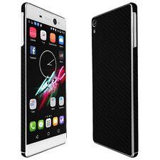 Skinomi Black Carbon Fiber Skin+Clear Screen Protector for Sony Xperia XA Ultra