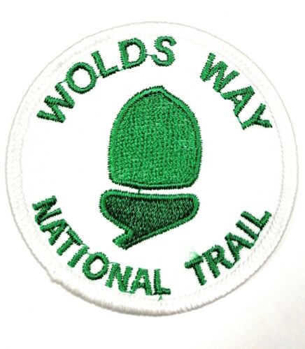 Wolds Way National Trail Round Embroidered Sew on patch FREE UK P/&P