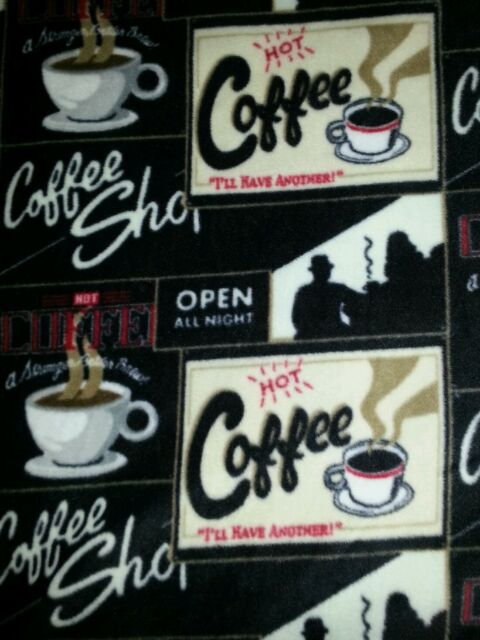 COFFEE SHOP FLEECE *ANTI PILL* 2 Yards!