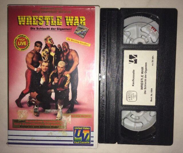 WCW Wrestle War '92 - War Games (VHS, 1992) (PAL, German) NWA WWF WWE NWO RARE