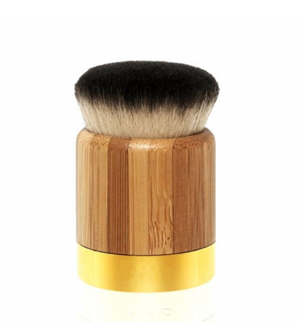 Flat Head Foundation Professional Cosmetic Natural Bamboo Handle Makeup Brush