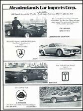 1988 Lamborghini Jalpa Detomaso Pantera Advertisement Print Art Car Ad J774a