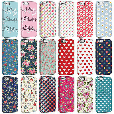 Polka Dot Floral Vintage Love Heart Pattern Phone Cases for the iPhone Range. 3D