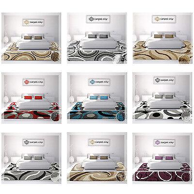 Tappeto Shaggy a Pelo lungo Camera da Letto Diversi Design Parure  Scendiletto | eBay