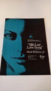 "HANK WILLIAMS JR. ""THE LAST LOVE SONG"" 1973 RARE ORIGINAL ..."