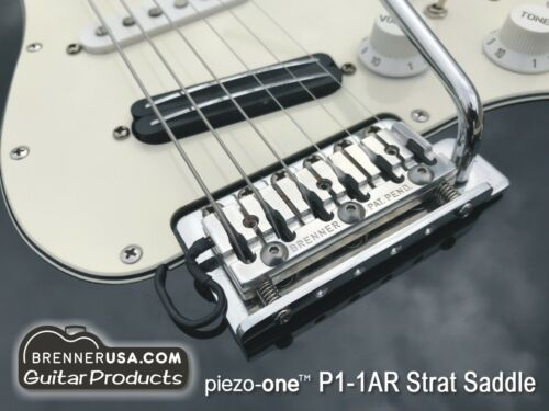 Brenner piezo-one saddle for Strat no-modification conversion to hybrid guitar!