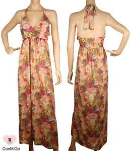Maxi Conmigo Stretch Colourful jersey Dress Flora IwzpOqU