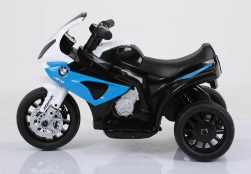 Batteriebetriebene Fahrzeuge Kleines BMW S1000RR Elektromotorrad Kindermotorrad Kinderfahrzeug Lizenz blau