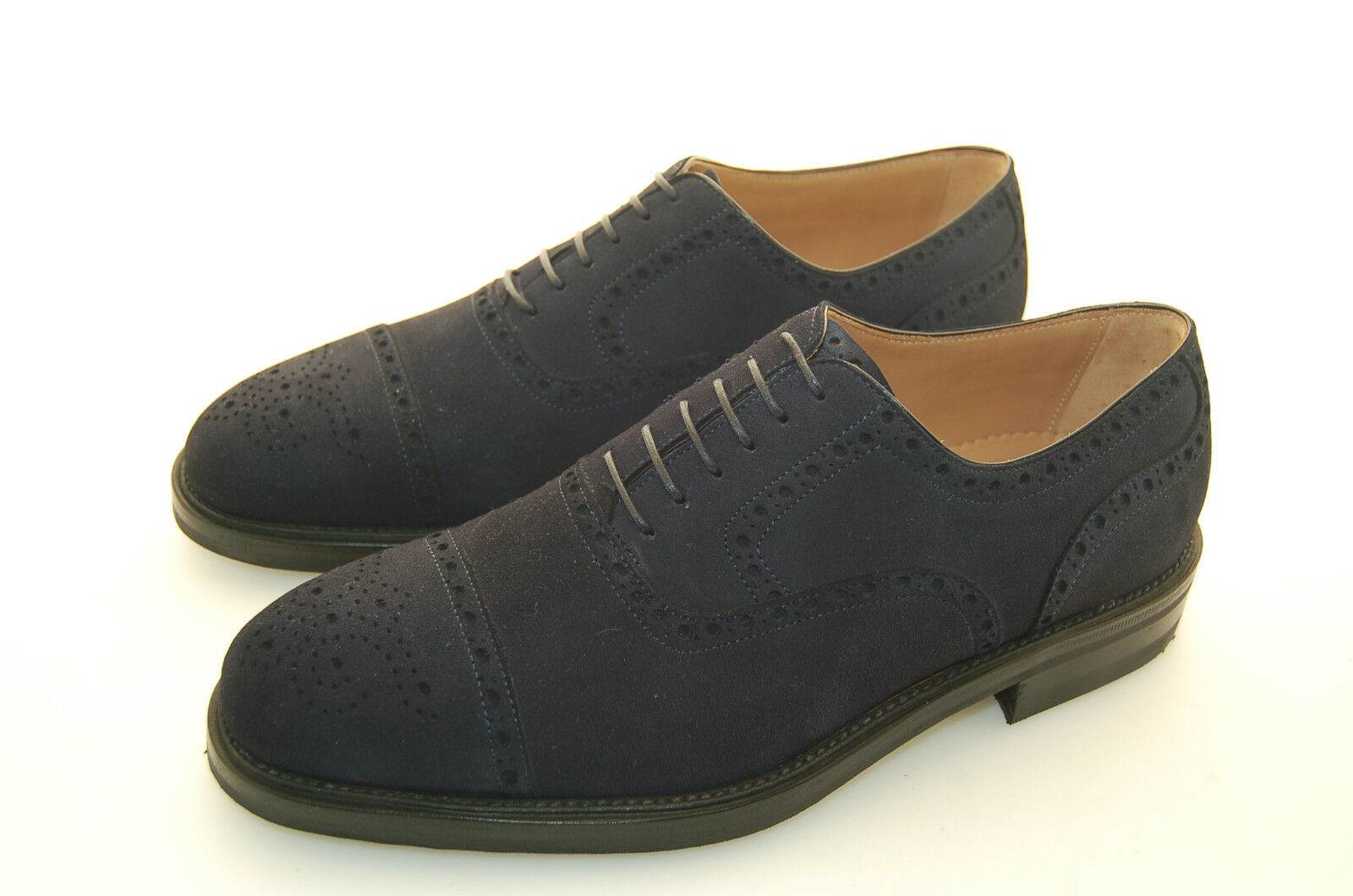 MAN-41½-7½USA-OXFORD CAPTOE-FRANCESINA CAPTOE-FRANCESINA MAN-41½-7½USA-OXFORD CAMOSCIO-BLUE SUEDE-RUBBER DAINITE SOLE d94a0c