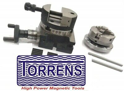 """65mm self centering lathe chuck 80MM ROUND VICE 100mm HV Rotary Table 4/"""""""