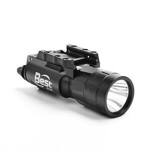 LED-Bright-Flashlight-20mm-Picatinney-Rail-Torch-For-Rifle-Pistol-gun