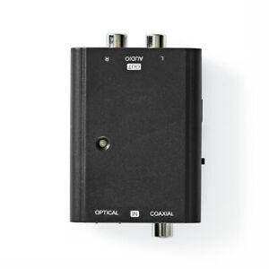Convertitore audio digitale Ingresso 1x femmina RCA 1 x TosLink uscita 2x RCA f