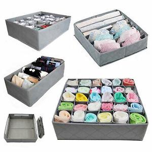 3 Pack Storage Drawer Divider Solution Box Organiser Tidy Socks Bra