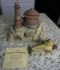 Jabba the Hutt's Palace Star Wars HAWTHORNE Galactic Village Collection COA