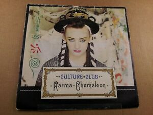 Culture-Club-Karma-Chameleon-Vintage-7-034-Vinyl-Single-from-1983