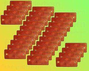 28 x Reflektor rot zum Schrauben 90 x 40 mm mit E-Zulassung - Rückstrahler