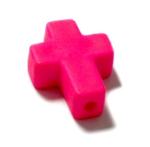 Kreativset-Perlen für Kinder Farbenfrohe Kreuz Perlen /Neonfarben 16*12mm /Kinder/ Baby/ Taufe/ Geburt/Ostern Kreativsets für Kinder