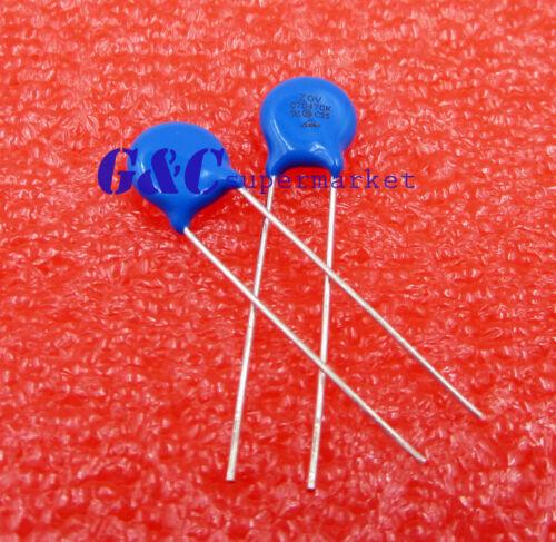 50 pcs 07D470K 7MM 470K 22V Piezo Resistor Pressure Sensitive Varistors J19