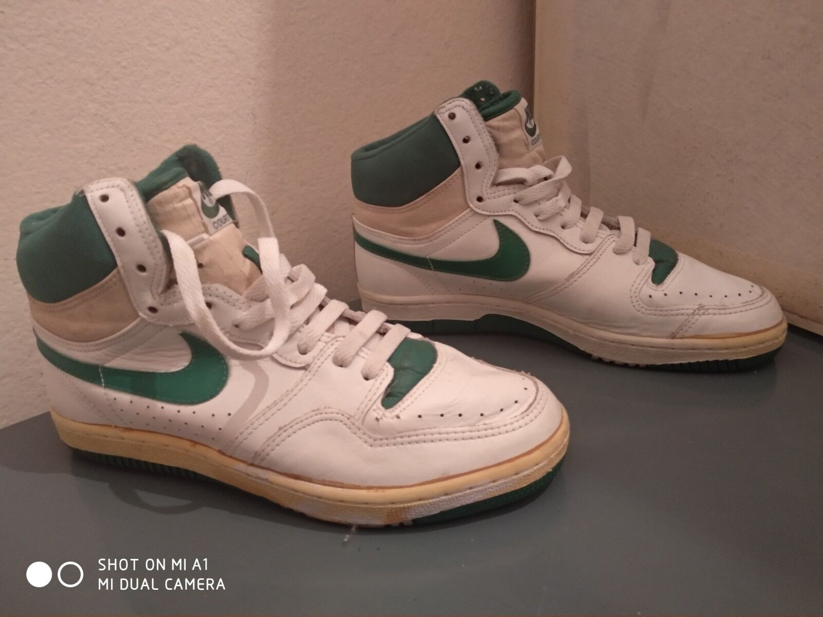 Vintage nike court force 80s   basketball shoes good condition size us 8