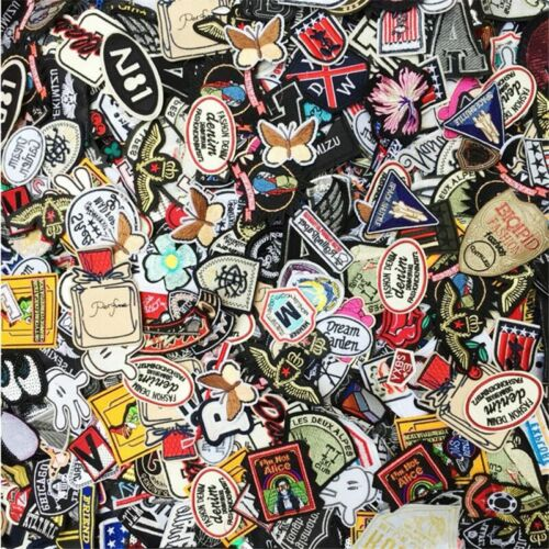 50PCs Mixed Iron On and Sew-On Patches For Clothing Embroidery Patch Summer 2020