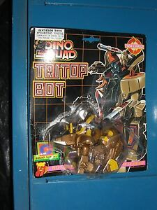 Details about VINTAGE 80'S DINO SQUAD DINOSAUR ROBOT TRITOP BOT TRICERATOPS  MOC TRANSFORMER