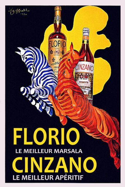 Bar Asti Cinzano Wine Cappiello Vintage Poster Repro FREE S//H in USA
