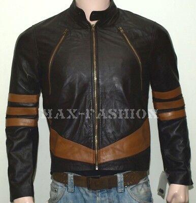 X-Men Wolverine Logans XO Real Leather Jacket Biker Style