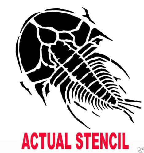 Large Trilobite Prehistoric Fossil Stencil Stencils DIY Raised Plaster Decor
