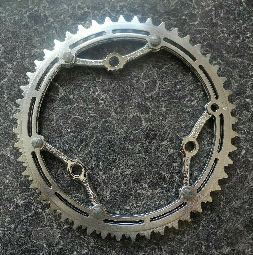 Simplex double chainring, rechromed, vintage cycling