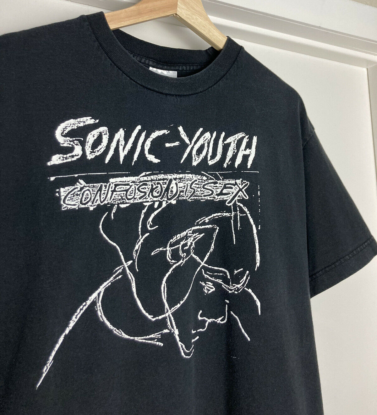 Vintage 90s Sonic Youth Confusion Is Sex T Shirt … - image 1