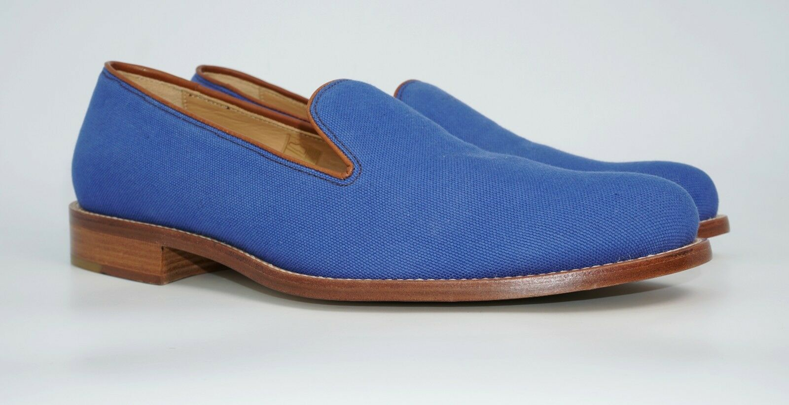 Harrys of London Men's Anton Canvas Formal Slippers, blu, MSRP  580