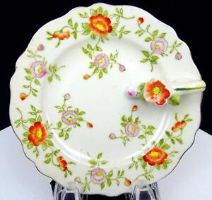 TAKITO-COMPANY-TT-JAPAN-PORCELAIN-FLORAL-HANDLE-6-034-SERVING-PLATE-1940-039-s