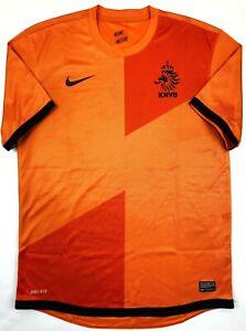 Nike NETHERLANDS 2012/13 M Home Football Shirt Soccer Jersey KNVB Top Holland