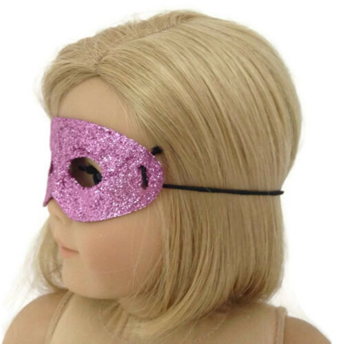 """Pink Glitter Halloween Mask made for 18/"""" American Girl Doll Clothes"""