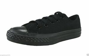 Converse All Star Low Top Black Chuck Taylor Shoes Boys Kids Sneakers 314786F