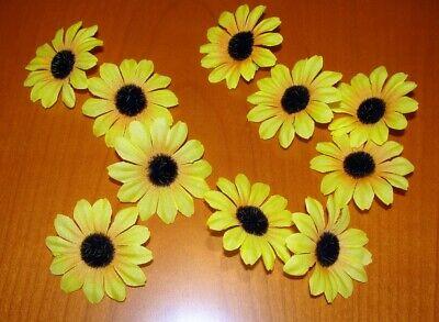 10 St Girasoles Centro De Mesa Streublumen Seidenblumen Arte Flores Colección Refrescante Y Beneficioso Para Los Ojos