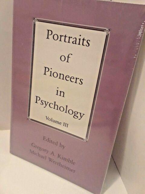 Portraits of Pioneers in Psychology : Volume III (2014, Paperback)  NEW