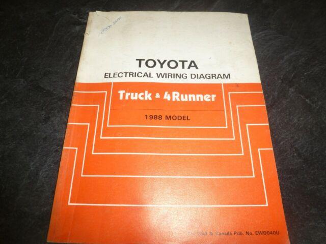 1988 Toyota Truck  U0026 4runner Electrical Wiring Diagrams