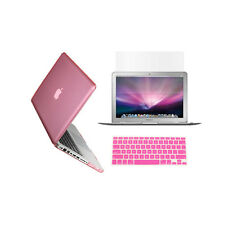 """3 in 1 Crystal  PINK Case for Macbook PRO 15"""" + Keyboard Cover + LCD Screen"""