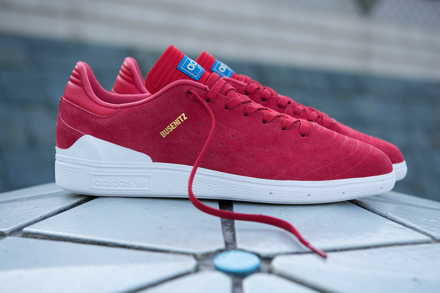 7.5 NEW adidas Originals BUSENITZ RX SHOES Skate Shoes Men Scarlet Red BY4097