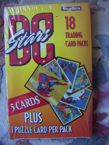 DC STARS by Skybox Trading Cards 1 Full Box 18 Packs