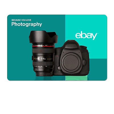 Because You Love Photography  - eBay Digital Gift Card $15 to $200