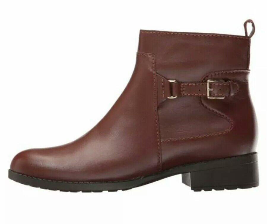 Cole Haan Evren Leather Waterproof Bootie Women's US 7 Brown NEW $300